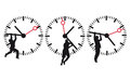Clock face and time icons Royalty Free Stock Photo