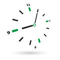 Clock face on a white background Stock Photos