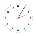 Clock face on a white background Stock Images