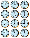 Clock faces Royalty Free Stock Images