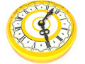 Clock. Four o'clock. 3d Royalty Free Stock Images