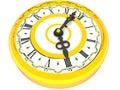 Clock. Four o'clock. 3d Royalty Free Stock Images