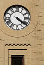 Clock with Freestyle Masonry Surround Royalty Free Stock Image