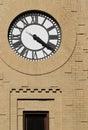 Clock with Freestyle Masonry Surround Royalty Free Stock Image