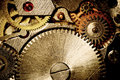 Clock gear closeup Royalty Free Stock Photo