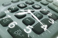 Clock Hands and Calculator Keys Royalty Free Stock Photo