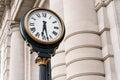 Clock at Historic Union Station Kansas City Missouri Royalty Free Stock Photo