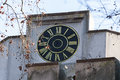 Clock on the Huniade Castle Royalty Free Stock Photo