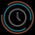 Clock icon - vector Clock illustration, time symbol - alarm clock sign