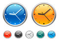 Clock icons 4 Royalty Free Stock Image