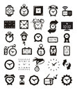 Clock icons set author s illustration in Stock Photo