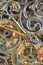Clock internal operation mechanism Stock Photos