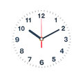 Clock isolate on white Stock Photos