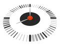 Clock isolated black three dimentional Stock Image