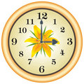 Clock lilly Royalty Free Stock Photo