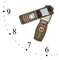Clock made of mobile phones Royalty Free Stock Photos