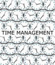 Clock management keeping up with it all by having a decent time Royalty Free Stock Photo