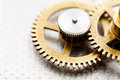 Clock mechanism close up marine chronometer Stock Photo