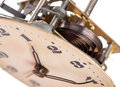 Clock mechanism closeup of old Royalty Free Stock Images