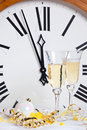Clock at midnight on New Year Eve Royalty Free Stock Images