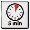 Clock with 5 minutes Royalty Free Stock Photo