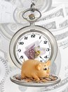 Clock and money Stock Photos