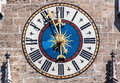 Clock New Town Hall Munich Germany Royalty Free Stock Photo
