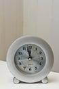Clock at noon Royalty Free Stock Photo