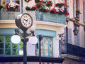 Clock in old center of avignon france scene with a historic provence Stock Images