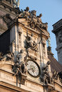 Clock of the paris town hall in the marais district of paris france Stock Image