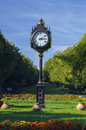 Clock in park Royalty Free Stock Images