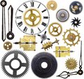 Clock parts old isolated on a white background Royalty Free Stock Photos