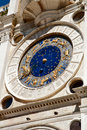 The clock on the Piazza San Marco in Venice Royalty Free Stock Photo