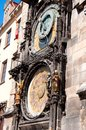 Clock in prague Stock Photography