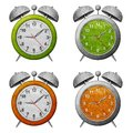 Clock recycled paper craft Royalty Free Stock Photos