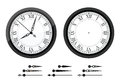Clock with roman bended numerals Stock Photography