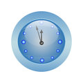 Clock round the on a white background Royalty Free Stock Photos