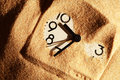 Clock In Sand Royalty Free Stock Photo