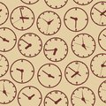 Clock seamless the electronic device vector illustration Royalty Free Stock Photo