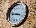 Clock the of serra san quirico Stock Images