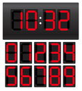 Clock set Royalty Free Stock Image