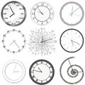 Clock set isolated illustration clock Stock Photo