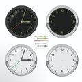 Clock set wall vector day and night Royalty Free Stock Photo