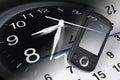 Clock, Smart Phone and Calendar Royalty Free Stock Photo