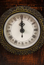 Clock strikes twelve o'clock Royalty Free Stock Photo