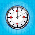 Clock with texture background Royalty Free Stock Image