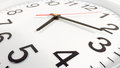 Clock or time abstract background. white clock with red and blac Royalty Free Stock Photo