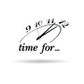 Clock and time for icon illustration