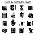 Clock & Time icon set Vector illustration Graphic Design Royalty Free Stock Photo