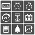 Clock and time icons Stock Photos
